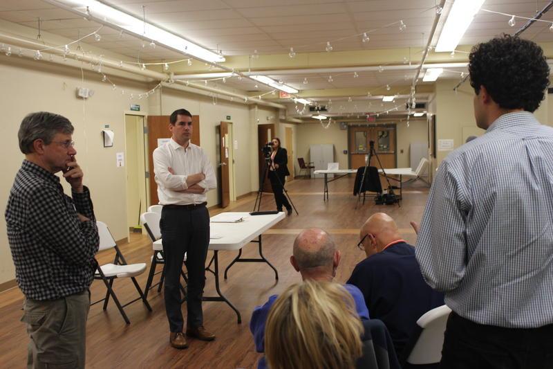 Ben Walsh at a CNY Solidarity Coalition meeting.