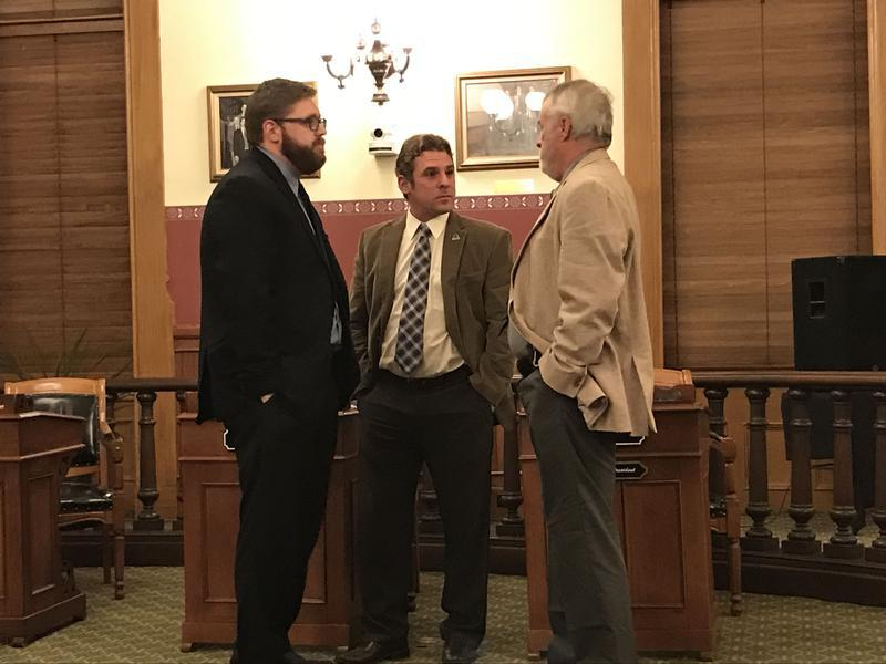 Councilor John Gosek, center, is being accused of sexual harassment by one of his constituents.