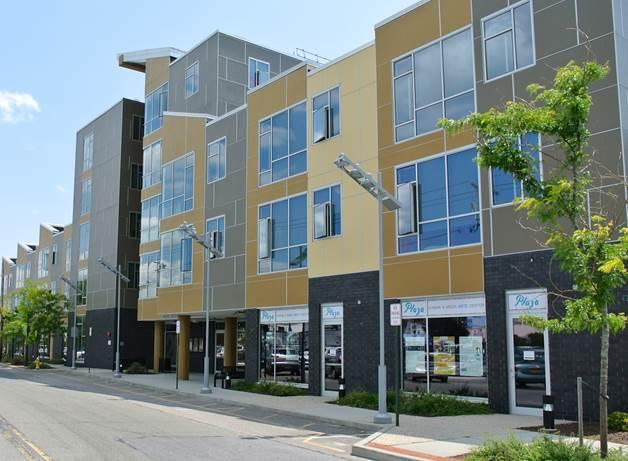 Artspace develops income-based lofts for artists in cities across the country, including this building in Patchogue, NY.