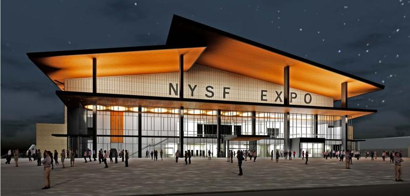 An arist rendering of the new expo center planned for the New York State Fair near Syracuse