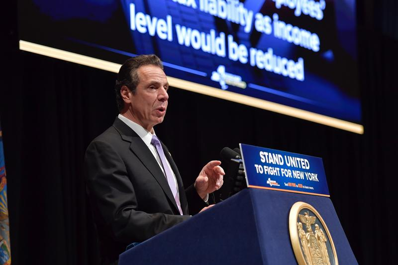 Gov. Andrew Cuomo delivers his budget address in Albany Tuesday