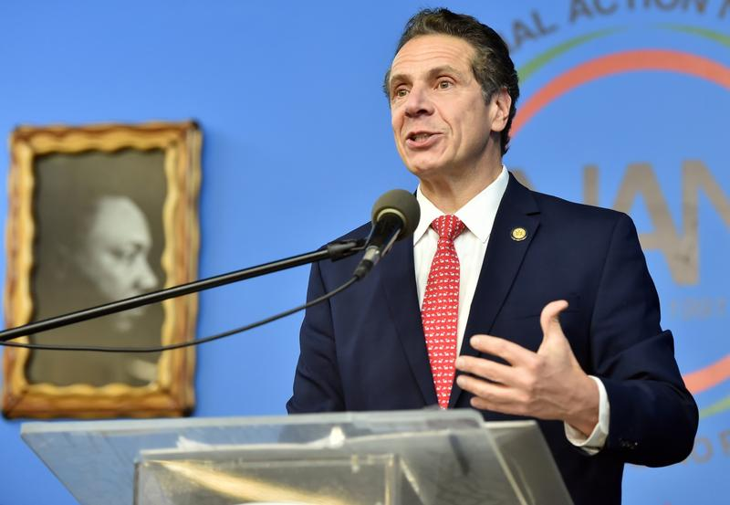 Gov. Andrew Cuomo speaks at the annual Martin Luther King Day event at the National Action Network
