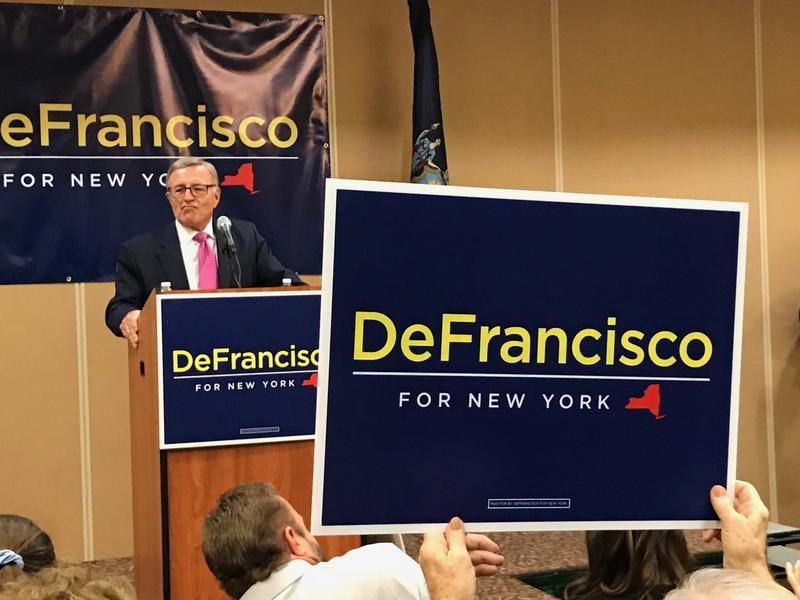 State Sen. John DeFrancisco (R-Syracuse) announced his candidacy for governor in Syracuse Tuesday