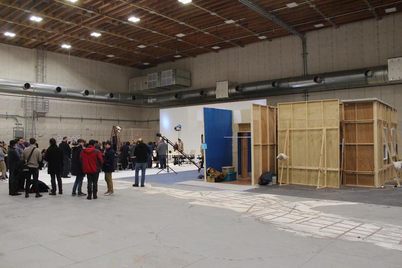 A set in the film hub.