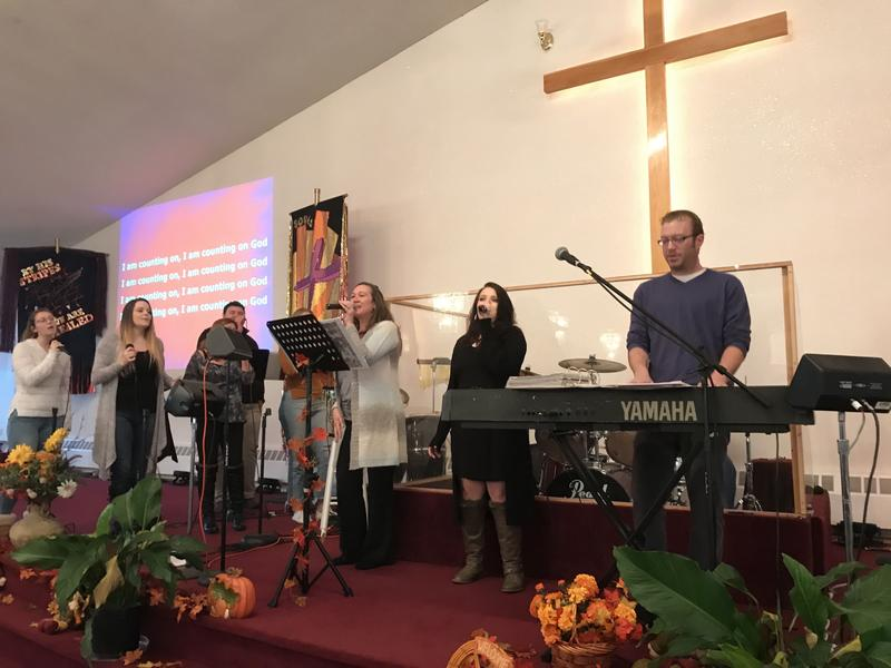 Janine Fortino and the Worship Team at the Lighthouse Mexico Church of God in Oswego County celebrate mass each week with several parishioners who carry loaded weapons to protect the congregation.