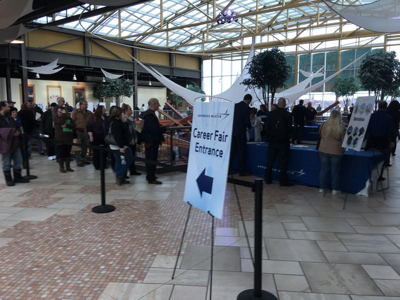 Lockheed Martin's job fair in Syracuse in January.