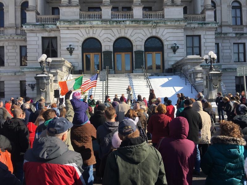 Anti-abortion activists in Syracuse.