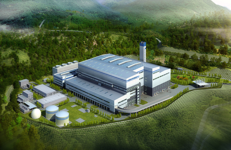 A rendering of the potential trash incinerator facility that Circular enerG hopes to build in Seneca County.