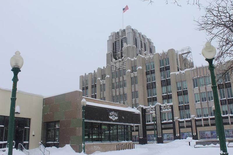 The Niagara Mohawk building, owned by National Grid, in downtown Syracuse.