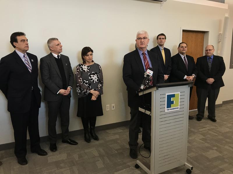 Mohawk Valley Health System COO Bob Scholefield discusses a plan to assist the property owners whose buildings are located within the 25-acre footprint of its proposed hospital in downtown Utica.