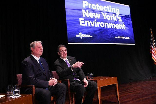 Former Vice President Al Gore and Gov. Andrew Cuomo ask that New York be excluded from the Trump administration's expanded offshore oil and gas drilling program.
