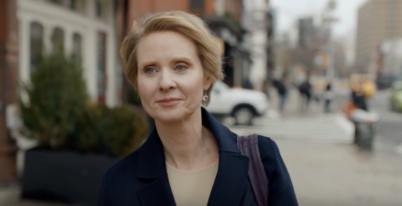Cynthia Nixon announces her campaign for governor in a video.