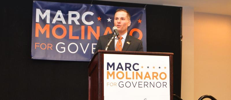 Dutchess County Executive Marc Molinaro announced his campaign for governor Monday