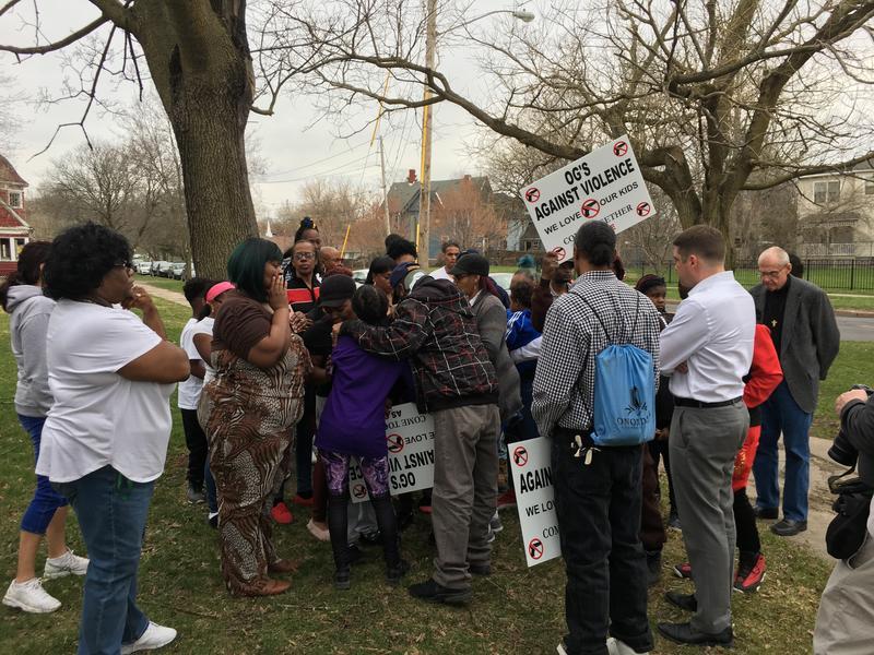 A prayer rally on Syracuse's south side.