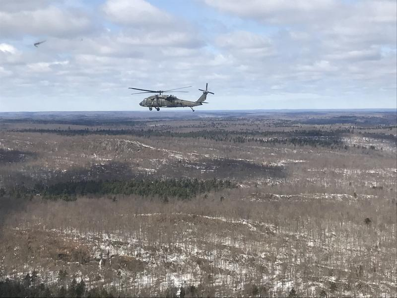Fort Drum is flying beyond its perimeters farther into the North Country in its new Falcon's Peak training exercise.