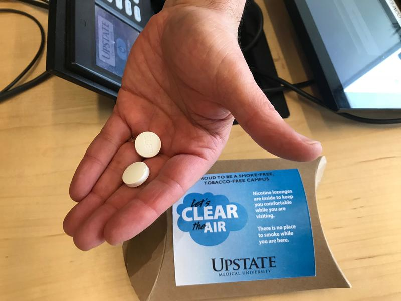Upstate University Hospital in Syracuse will begin offering nicotine lozenges to smokers who visit the Upstate campus