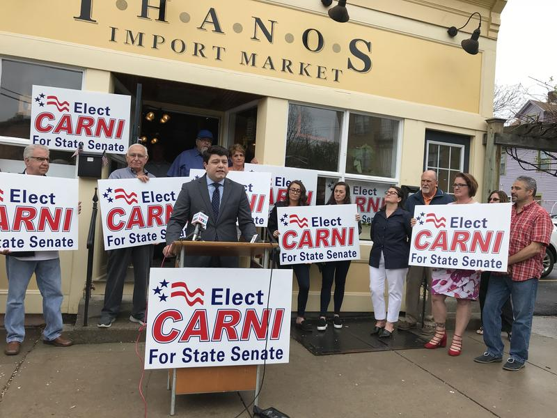 Syracuse Common Councilor Joe Carni is the latest Republican to announce plans to run for the 50th State Senate district seat that's being vacated by longtime Republican State Sen. John DeFrancisco (R-DeFrancisco).