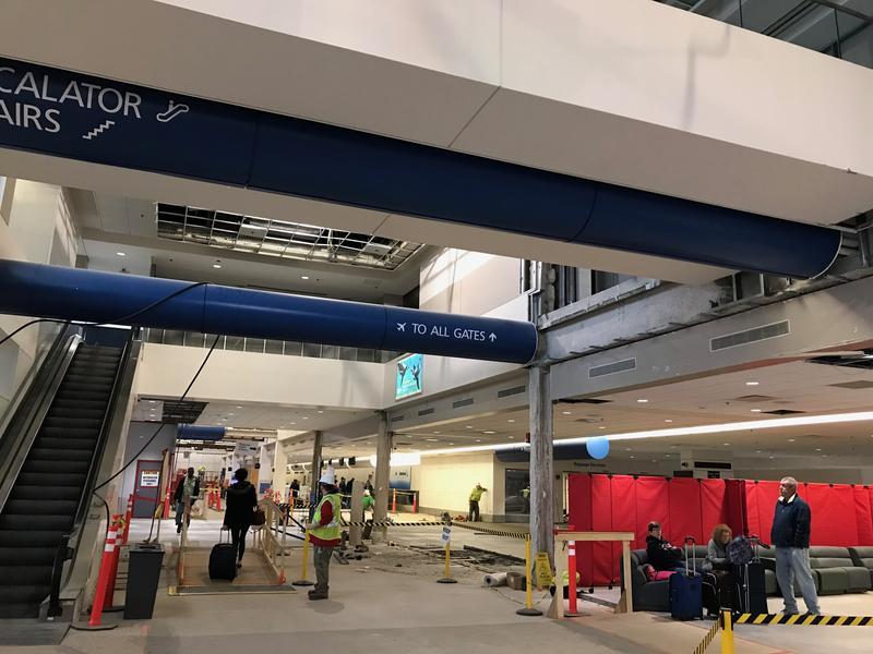 Construction at Hancock International Airport.