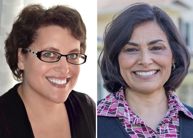 Dana Balter, left, and Juanita Perez WIlliams are running for the Democratic nomination in the 24th Congressional District. The winner of the June 26 primary faces Rep. John Katko (R-Camillus) in November