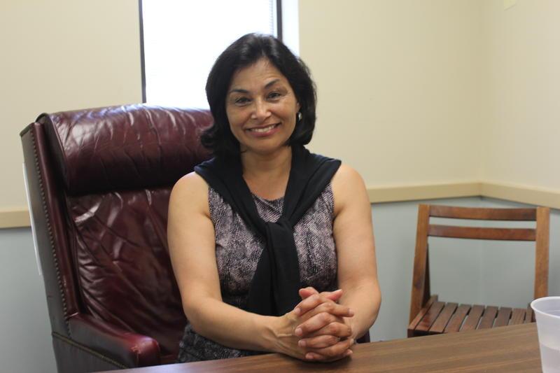 Juanita Perez Williams at her campaign headquarters in Syracuse.