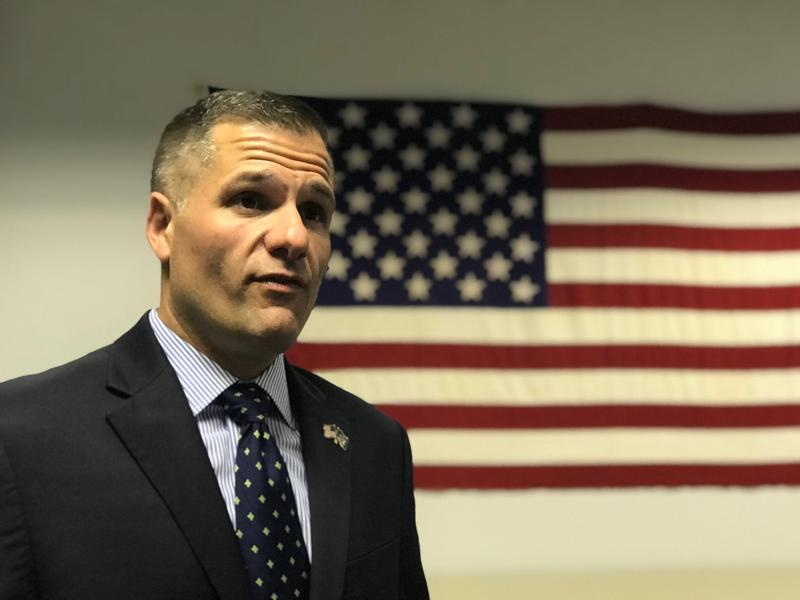 Republican gubernatorial candidate Marc Molinaro during a stop in Syracuse Thursday