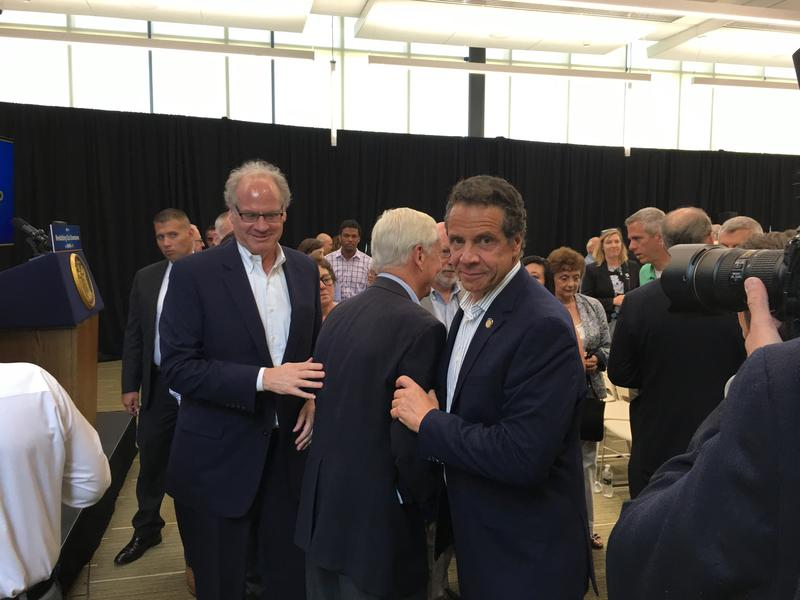 Gov. Andrew Cuomo with Empire State Development Chair Howard Zemsky.