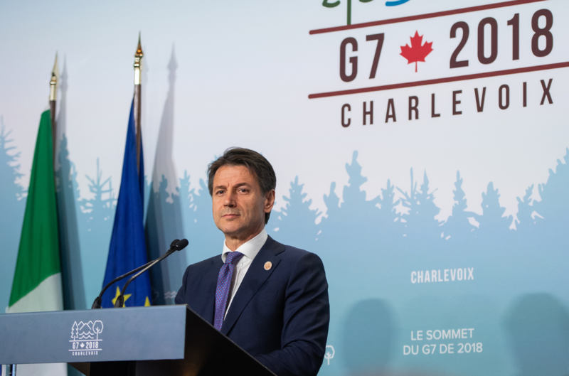 Italian Prime Minister Giuseppe Conte at the G7 Summit in Charlevoix, Quebec, Canada earlier this year.