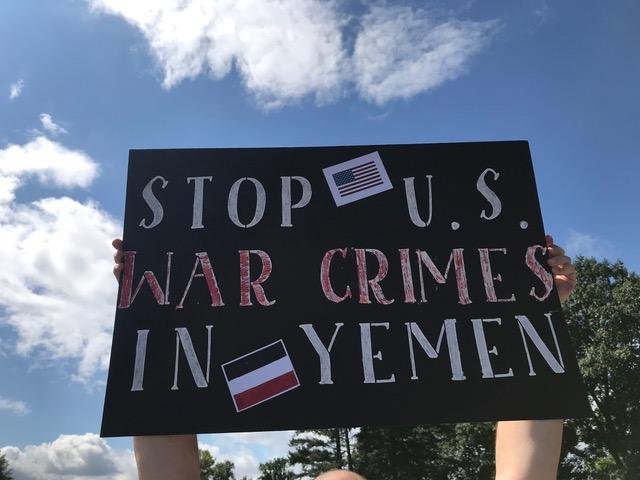 War protest in Salina.