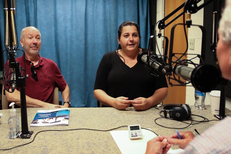 Tom Carlin, left, and Tina Nabatchi of the Onondaga Citizens League