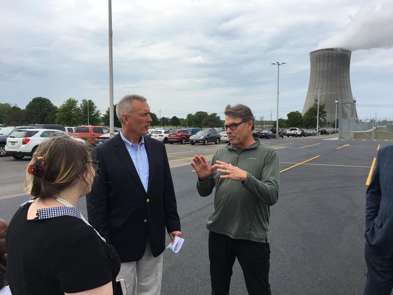 U.S. Energy Secretary Rick Perry with Rep. John Katko in Oswego County.