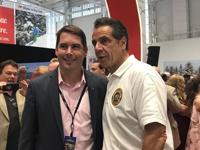 Syracuse Mayhor Ben Walsh, left, with Gov. Cuomo during the governor's visit to the New York State Fair this week