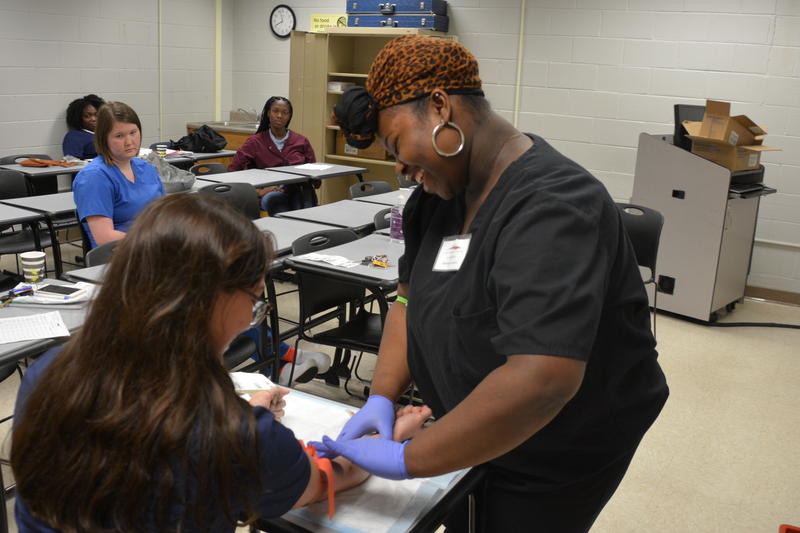 Sheniah Everson, 17, is part of a youth apprenticeship program in Charleston, SC, that's giving her a jump on her nursing career.