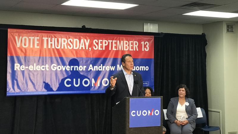 Gov. Cuomo speaks at a campaign rally in Syracuse Monday