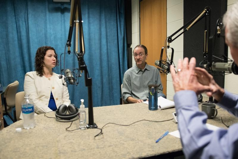 Syracuse University professors Shana Gadarian, left, and Tom Keck