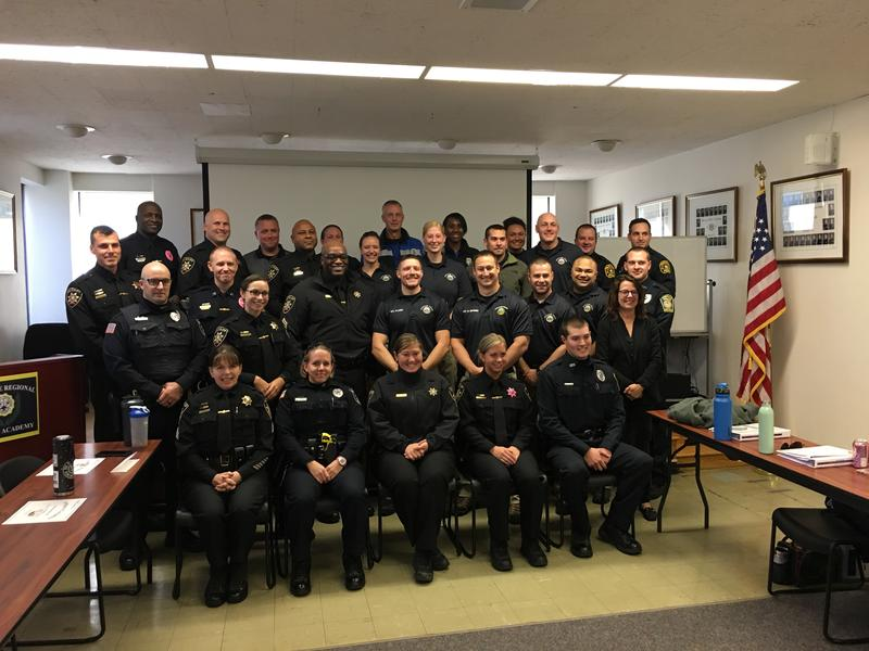 Police officers in Onondaga County complete a crisis intervention team training course.