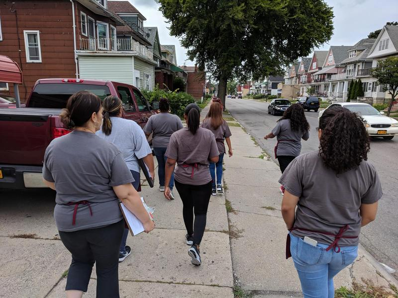 Community Health Workers with the Buffalo Prenatal-Perinatal Network head out into Buffalo's East Side neighborhoods looking for women in need of their services.