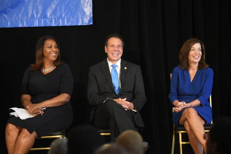 Tish James, left, won the race for NY Attorney General, while Lt. Gov. Kathy Hochul, right, won another term