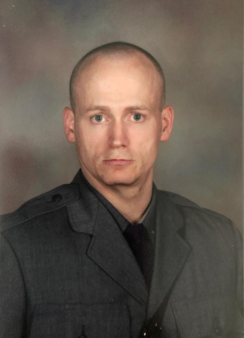 State Trooper Jeremy VanNostrand was killed in a crash outside a trooper station in the Mohawk valley Monday