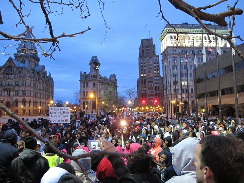 Hundreds rally in Syracuse Friday in support of Trayvon Martin