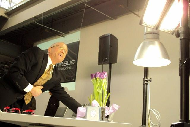 Joe Casper and his company, Ephesus Technologies, used resources at the Syracuse, Albany and Canandaigua Centers of Excellence to produce new LED lights built on diamonds.