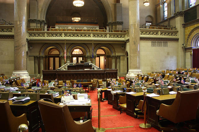 A view of the New York state Assembly chambers.