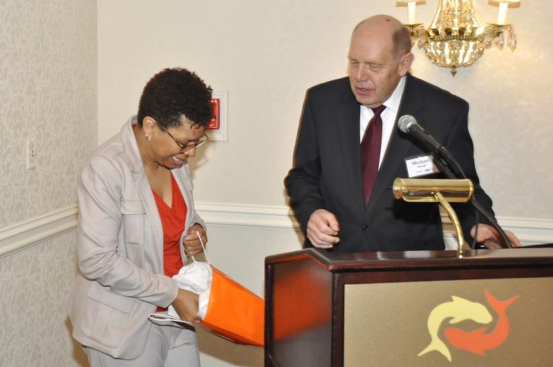 Michel Martin receiving gifts from WRVO