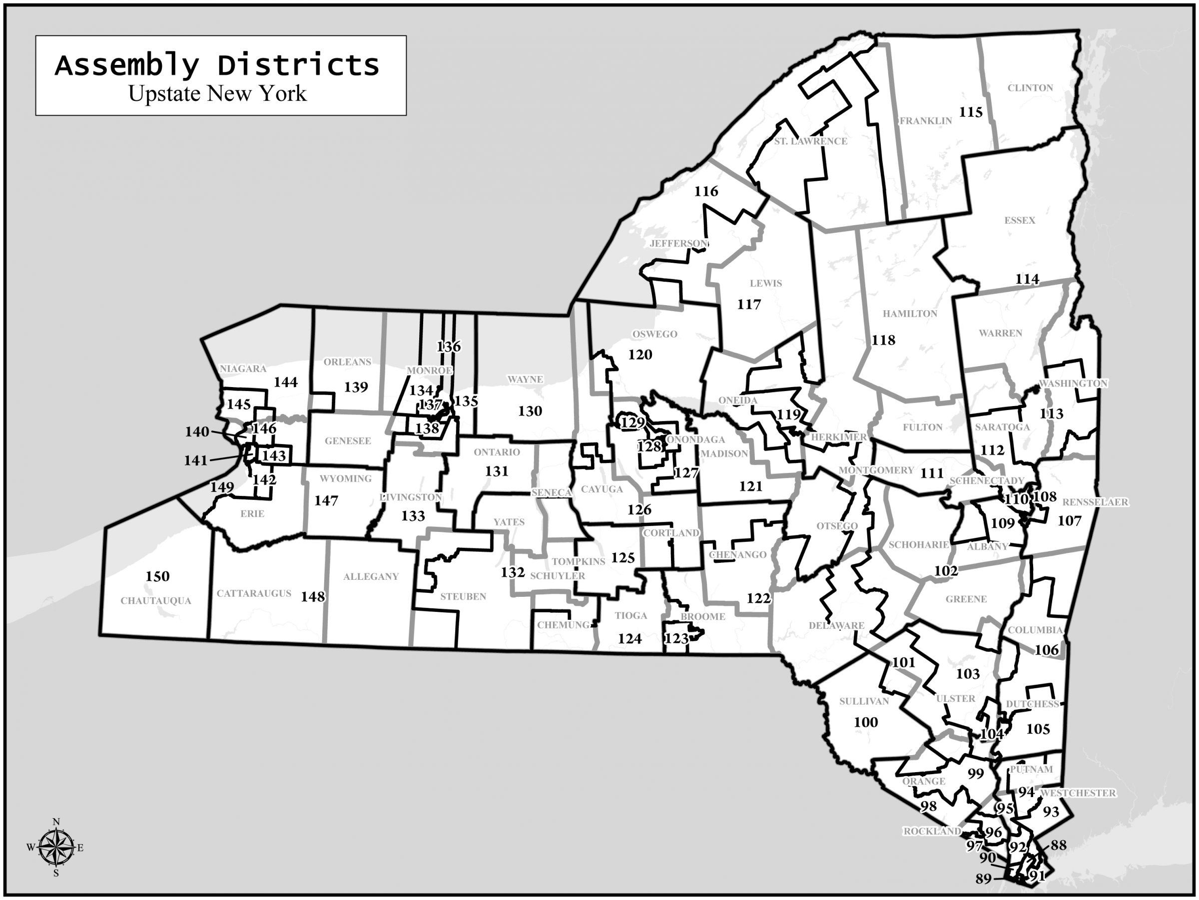 Is The November Redistricting Amendment A Reform Or Step Backward - Map of upstate new york