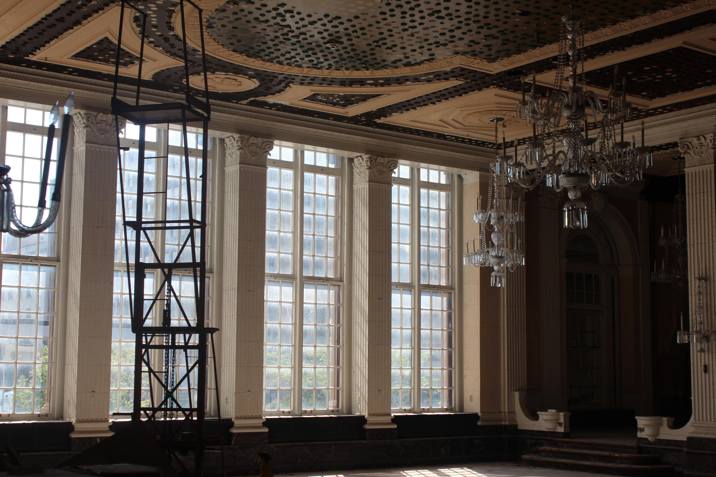 Construction And Renovation Inside Marriott Downtown Syracuse