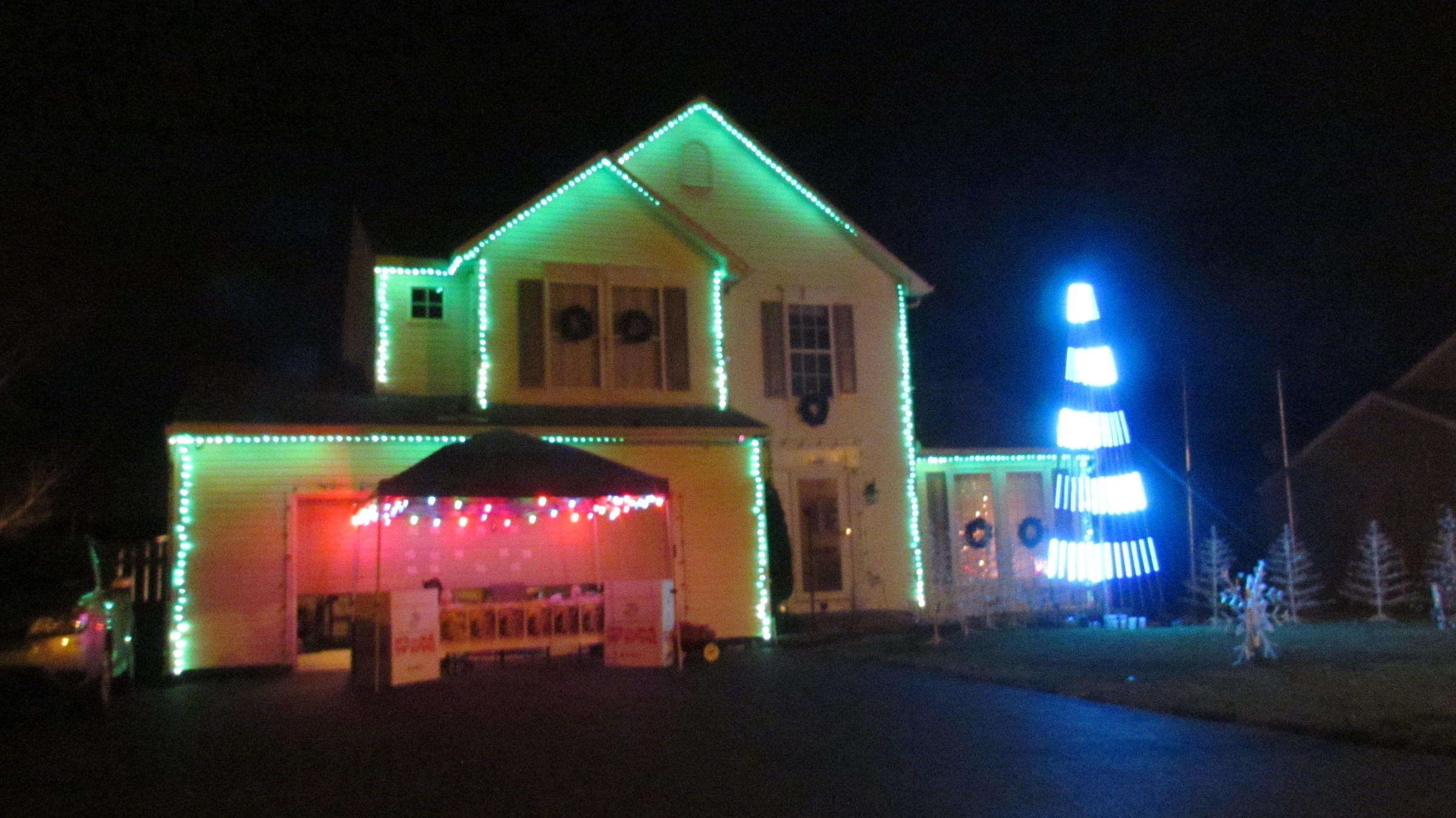 Holiday Light Show A Labor Of Love For One Brewerton Family WRVO  - House With Christmas Lights To Music