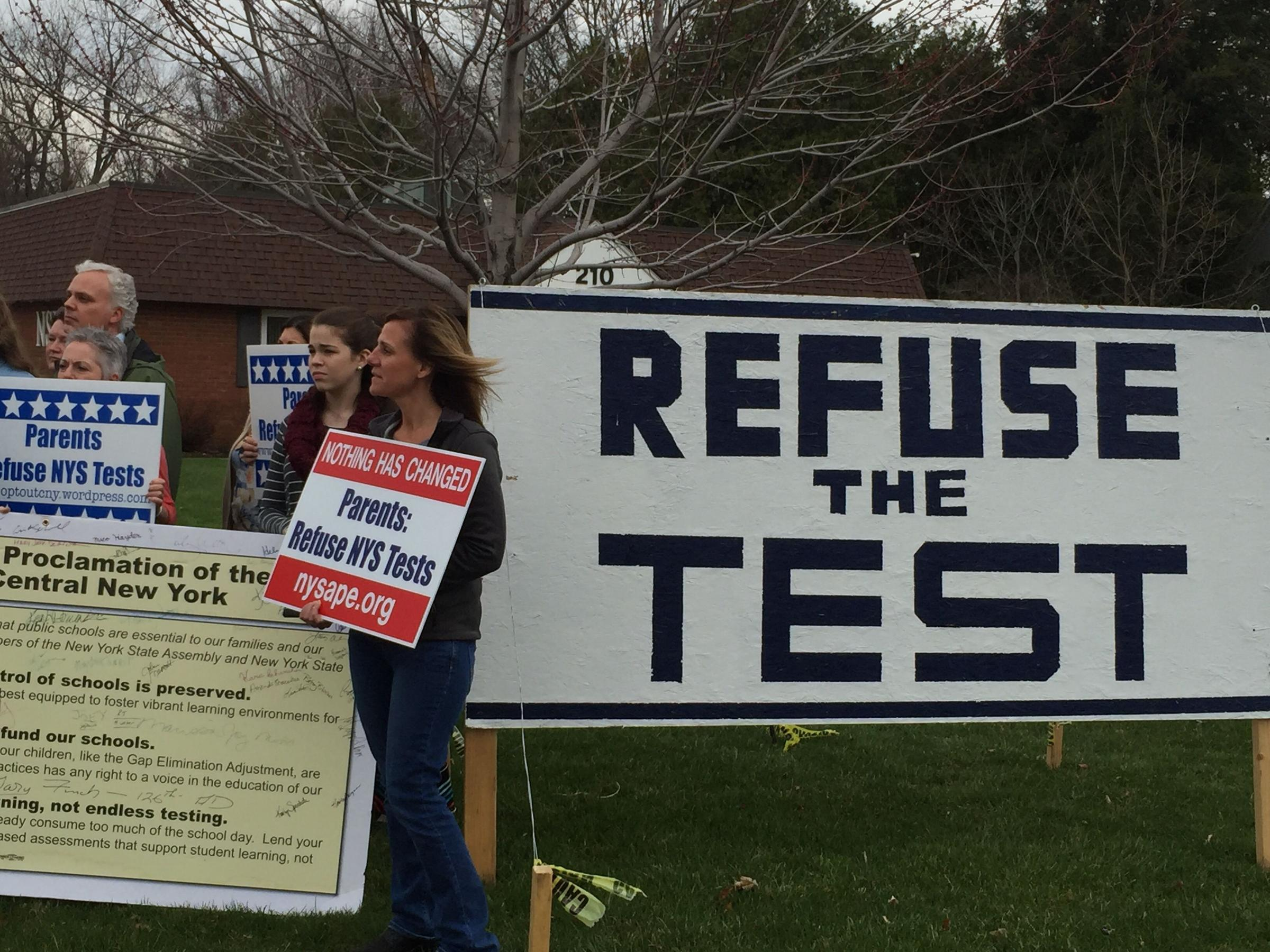 Opt Out Supporters Protesting In The Syracuse Area Last Week