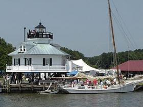 Hooper Strait Lighthouse at the Chesapeake Bay Maritime Museum