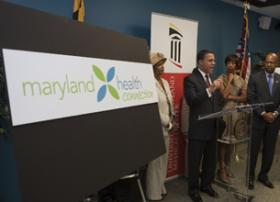 Governor Martin O'Malley at Health Exchange Ceremony