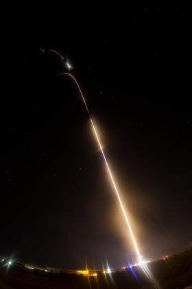 Black Brant XII rocket launch at Wallops Flight Facility