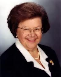 Senator Barbara Mikulski (D-Md), Chair of Appropriations Committee